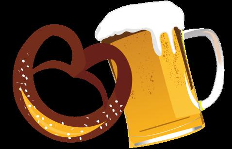 Bierkrug-Brezn